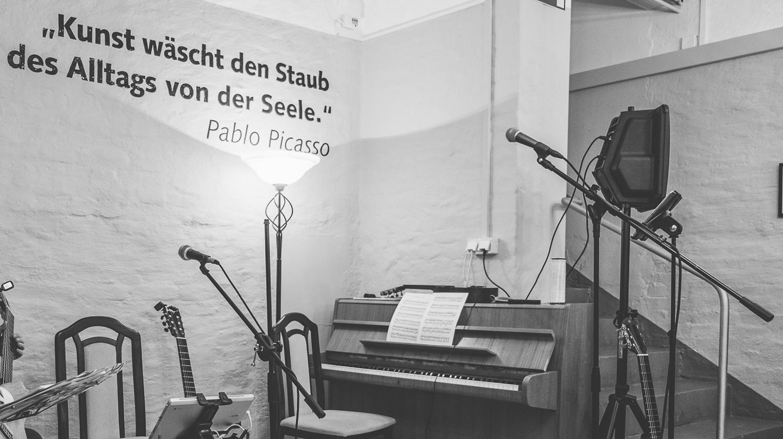 Auftritt im Kunsthauskeller (KuK), Kunsthaus Meyenburg, Nordhausen am 23.04.2016